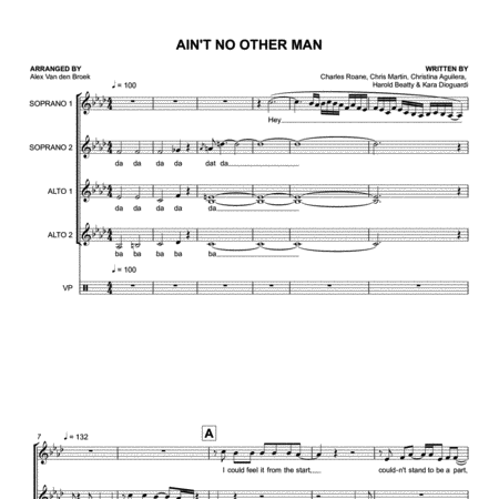 Ain't No Other Man (Christina Aguilera) SSAA