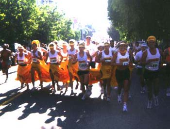 Aggies Women's Bay to Breakers Centipede