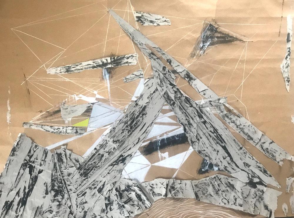 "Geo structures  56x75cm (22x29"")"