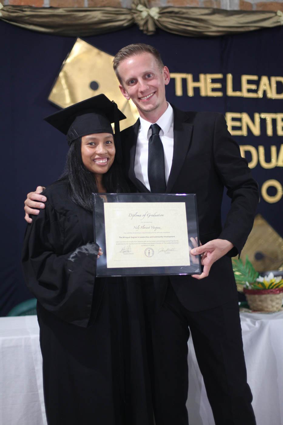 Cohort 6 Grad - Nely with TLC President, Joseph Rahm