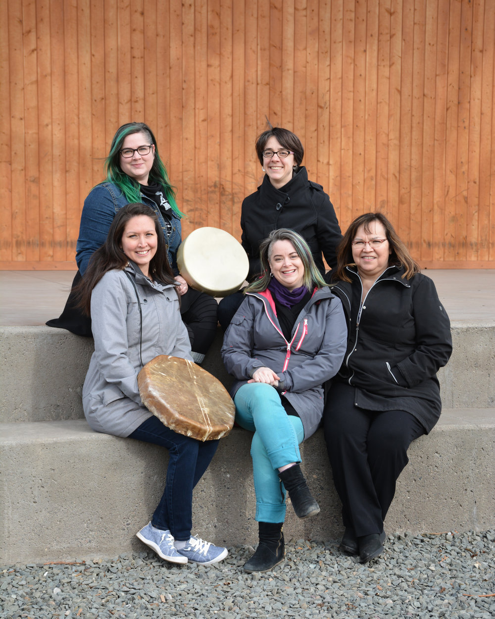 Meet the Team : (Top Left to Bottom Right) Meghan Brady, Lead Coordinator; Miriam Colvin, Artistic Director - Walking Together; Molly Wickham, Community Engagement Facilitator; River Wilde, Lead Coordinator,  Birdy Markert, Co-Chair Bridging Committee.    Image by Shannon Finnegan