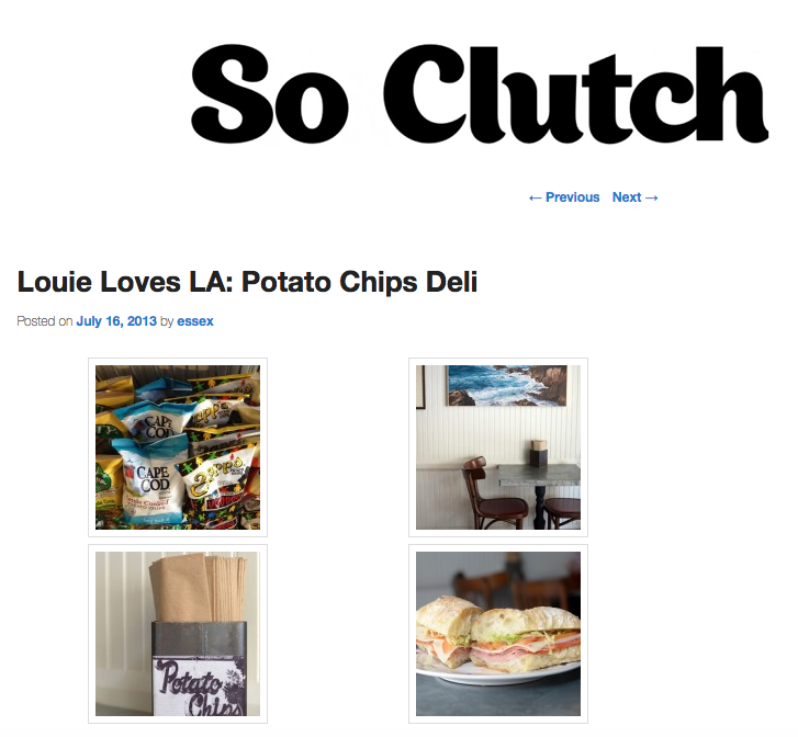 So Clutch:  Louie Loves LA: Potato Chips Deli