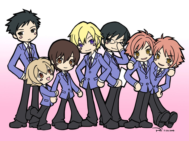 Ouran High School Host Club x Pinky Street figures 2006