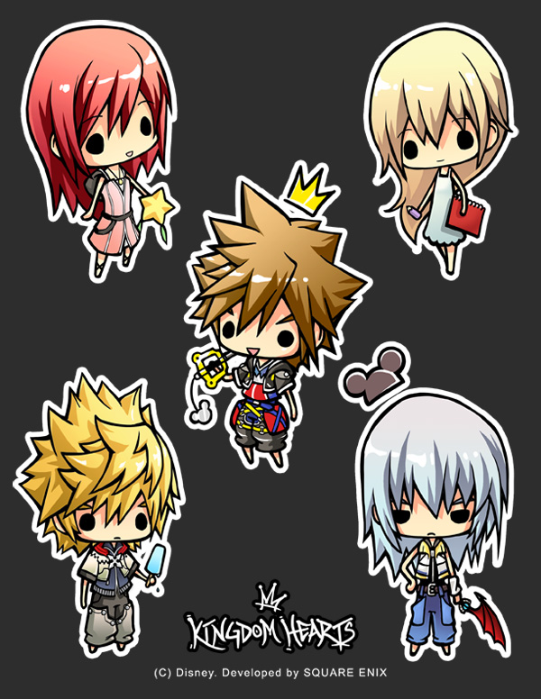 Kingdom Hearts II chibis 2007