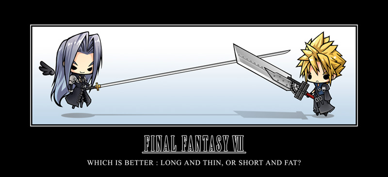 Final Fantasy VII chibi motivational poster 2007