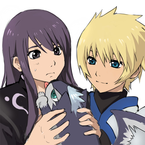 Tales of Vesperia : Yuri and Flynn with puppy Repede 2010