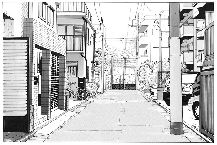 背景トーン Toning city background 2009