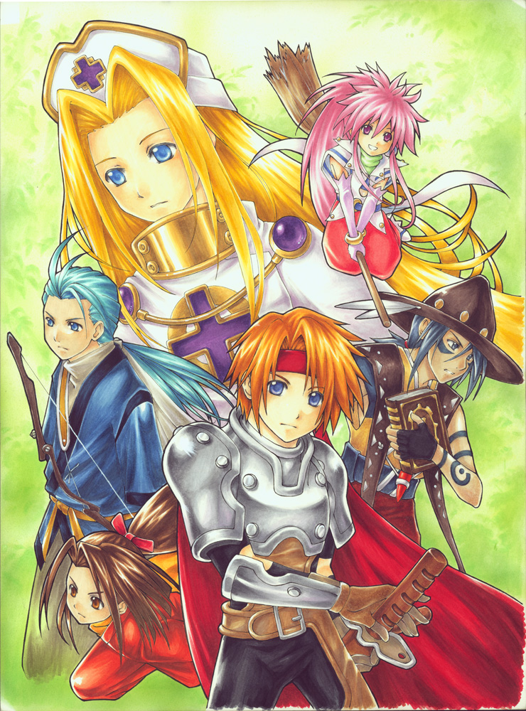 Tales of Phantasia copic marker on artboard 2007