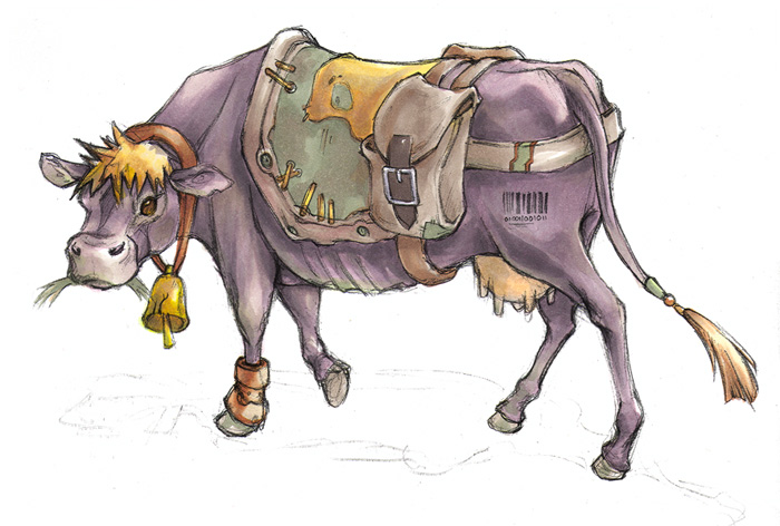 Jack and the Beanstalk: the cow character design 2006