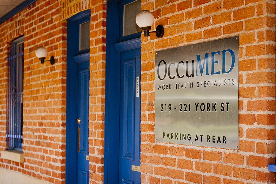 oCCUMED SUBIACO - Within 2 minutes walk of Subiaco train station; 5 minutes by car to the CBD, West Perth and SJOG Subiaco Hospital and Specialist Rooms.Address: 219 York Street, Subiaco, 6008 WATel: (618) 9381 8388Fax: (618) 9381 7833Email: admin@occumed.com.auOpening Hours: Monday - Friday: 8am - 5pm AWST