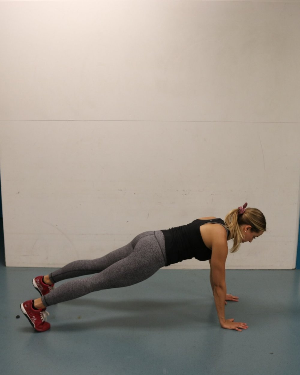 Hang-plank position to start