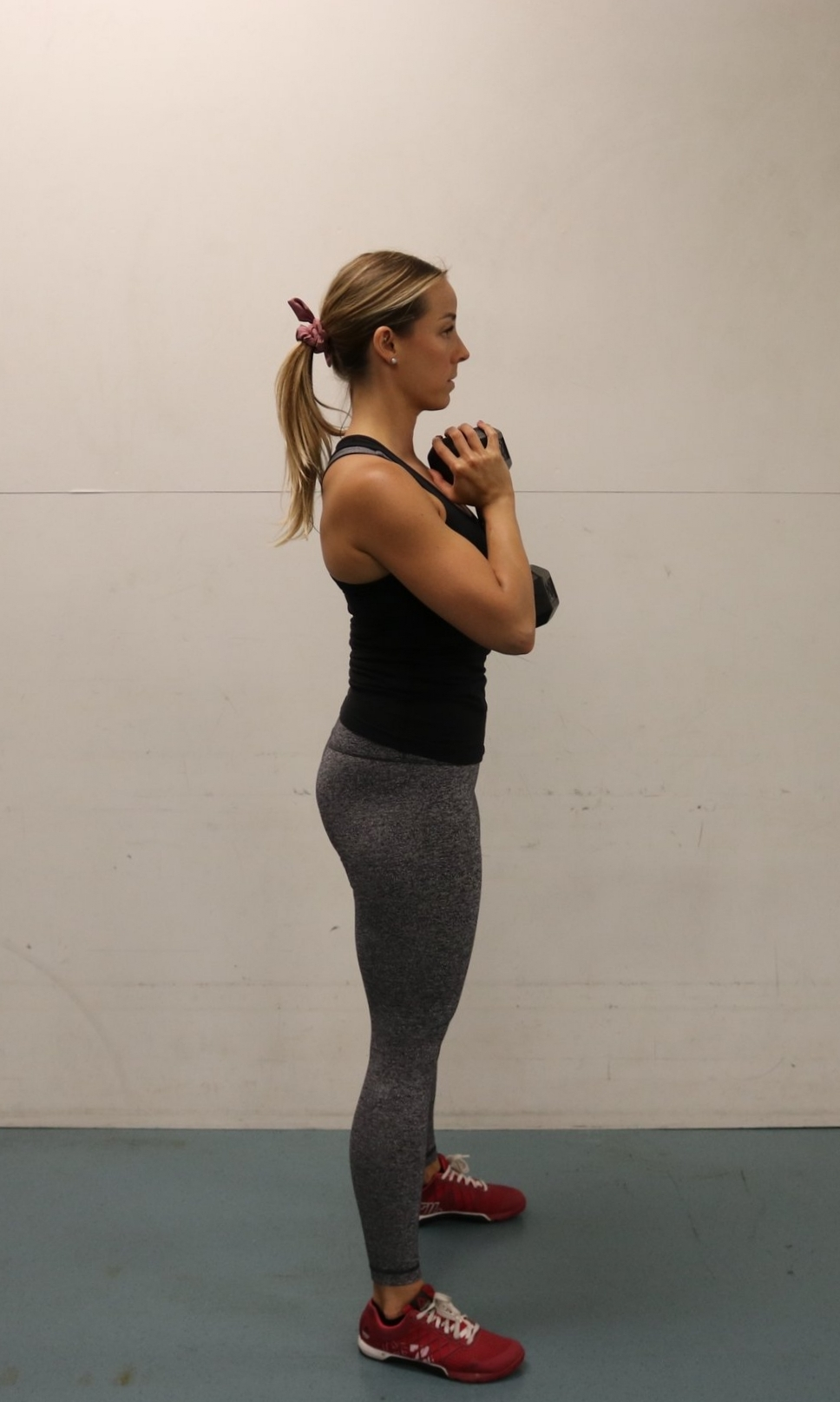 Top position of the squat