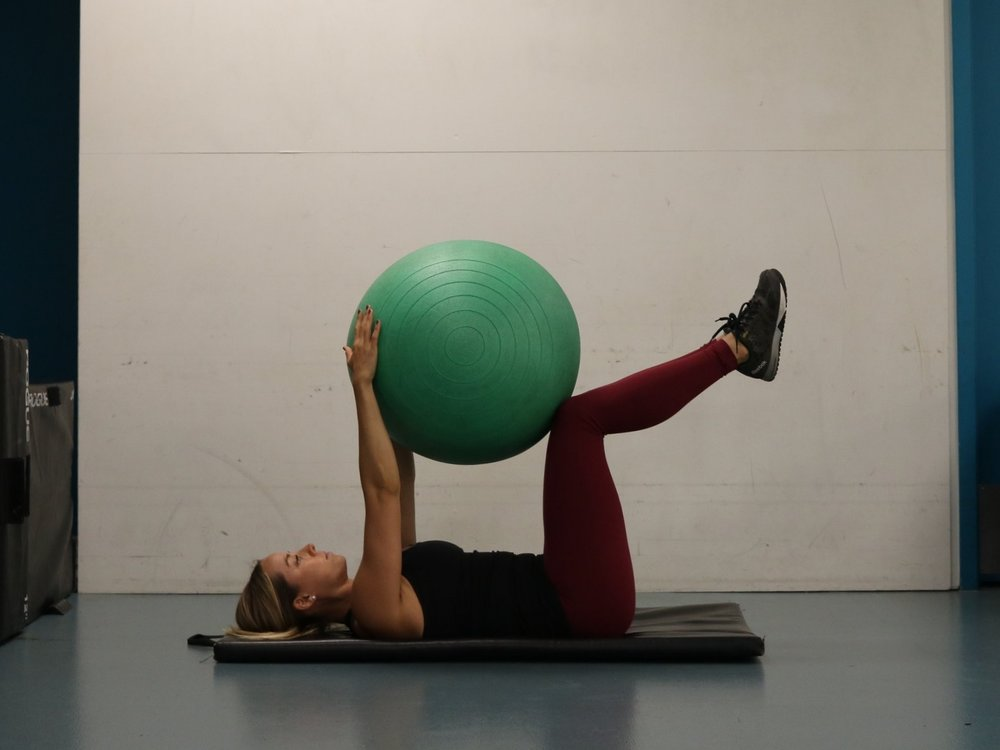 Engage core to maintain neutral spine