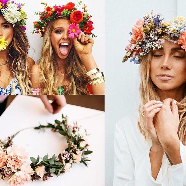 Dags att börja fundera på hur årets krans ska se ut! 🌸 På Devote.se hittar du 16 fina varianter att hämta inspiration ifrån!  #midsommarkrans  Bildkälla: Pinterest