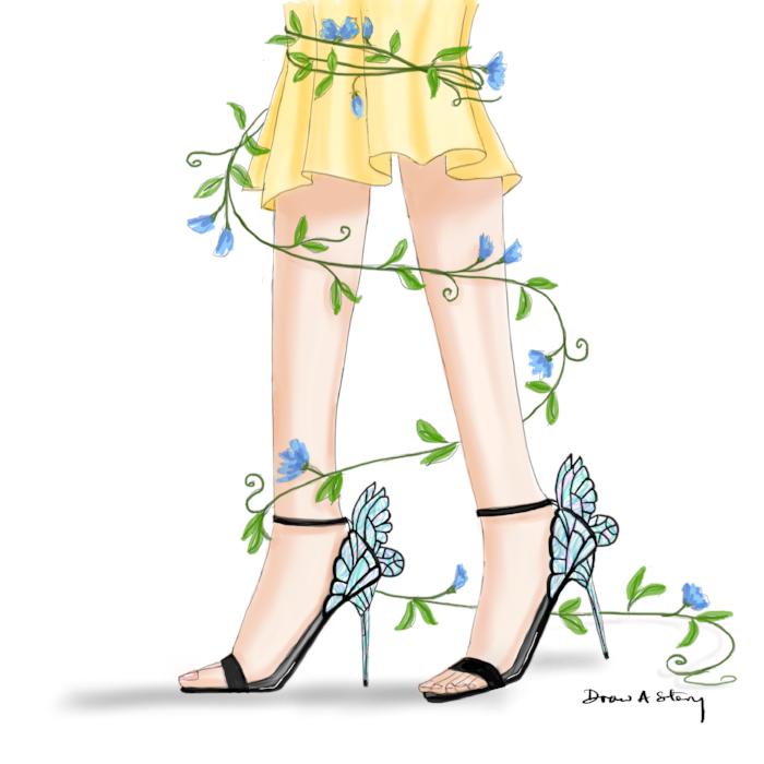 """""""Midsummer Night's Dream"""" Chiara sandals from Sophia Webster"""