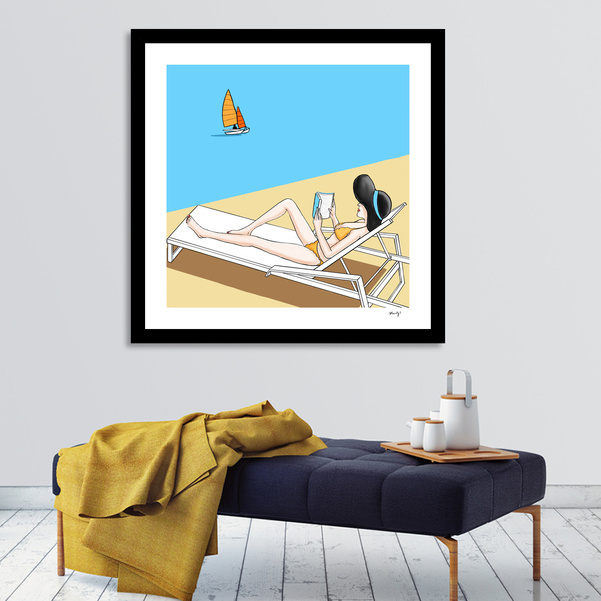 """Yellow Bikini"" print on sale at Curioos"