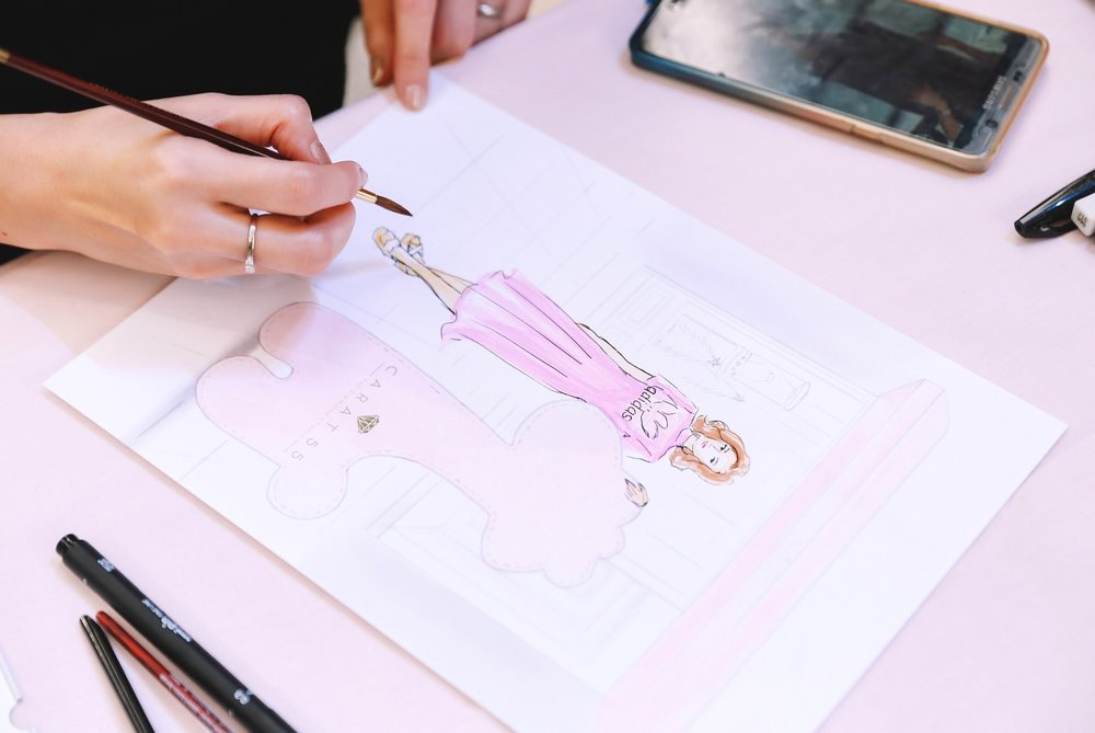 Fashion Illustration For Carat 55 Christmas Party Draw A Story