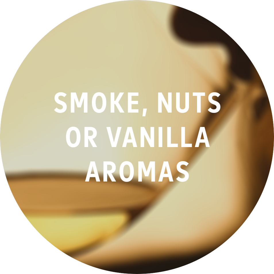 - These 3 aromas are the most common clue of oaking in whites. A wine's grape doesn't have these aromas so they come 100% from the wood.