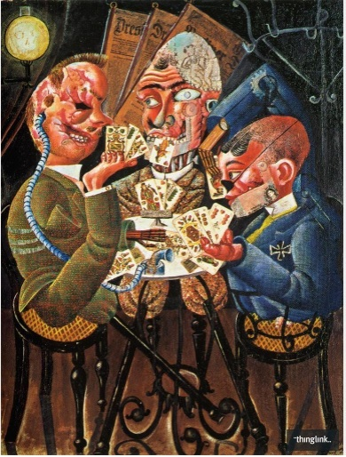 The Card Players by Otto Dix (1920)