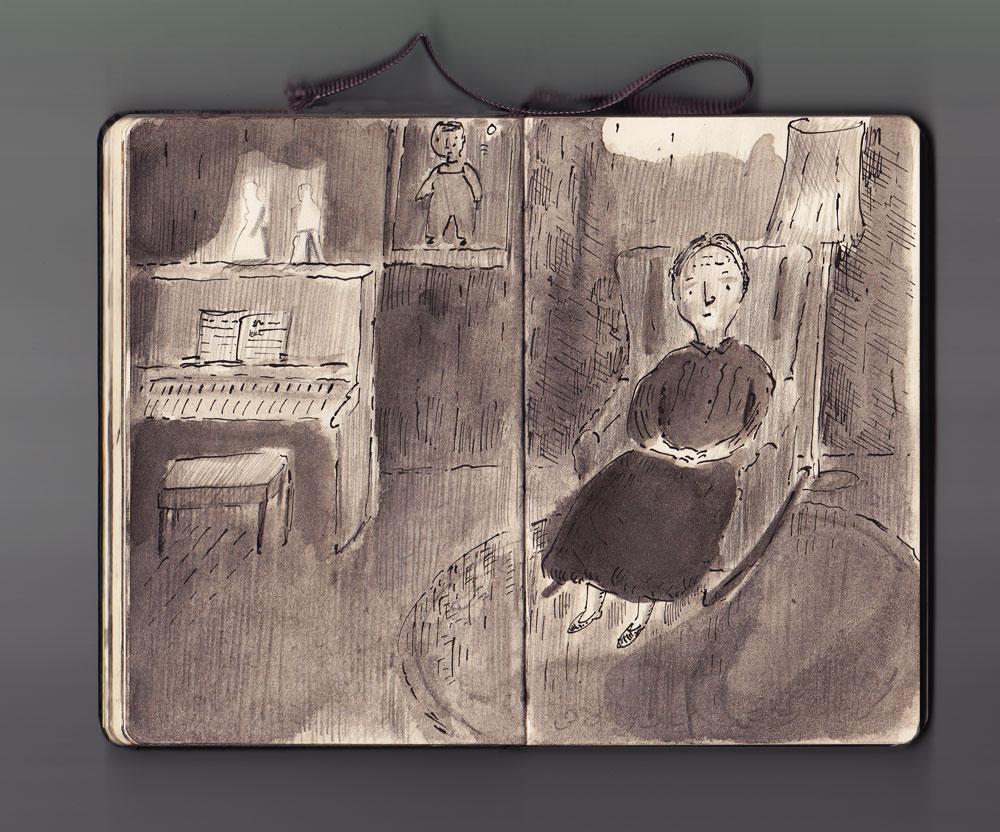 Parlour Drawings, Granny Priestley