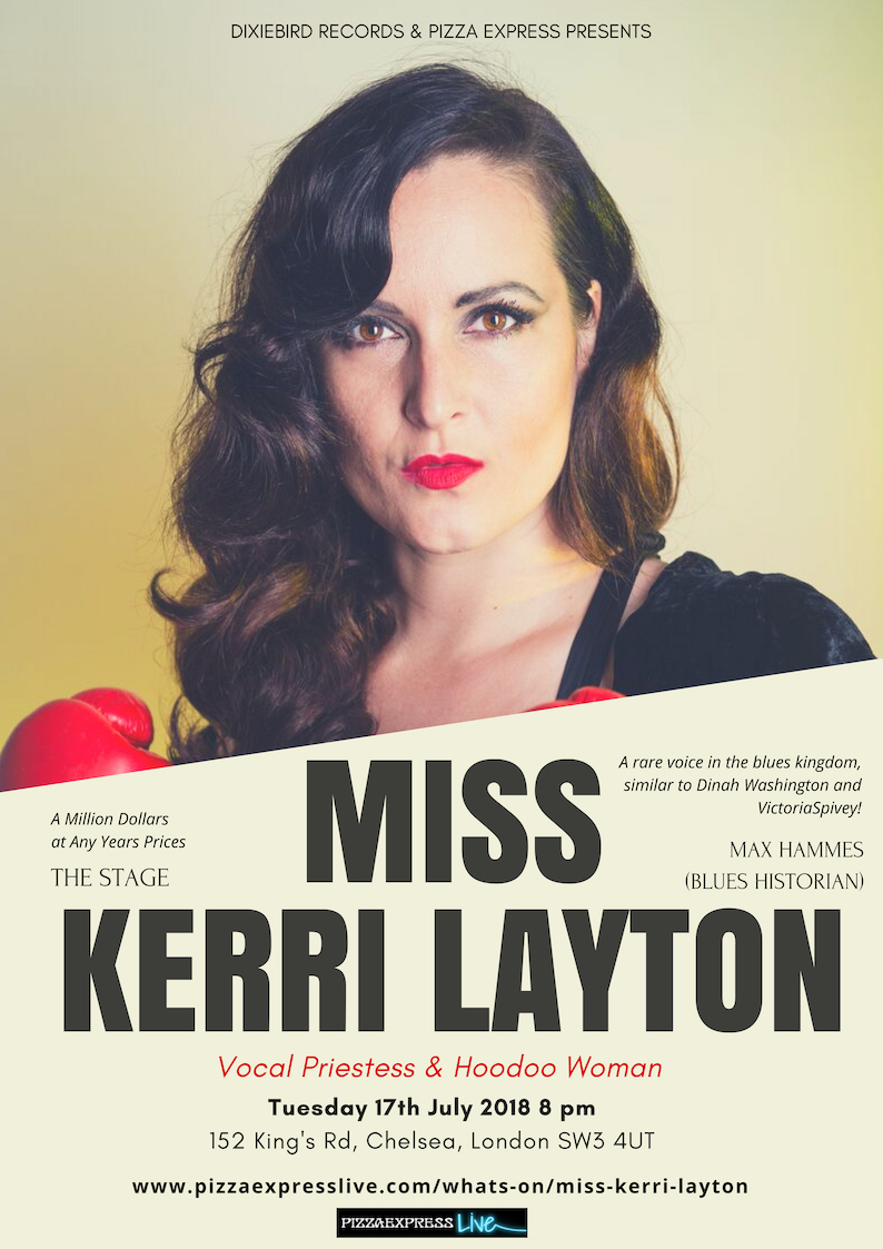 Jazz London Miss Kerri Layton PIzza Express Cabaret