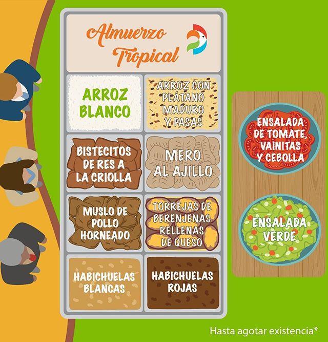 ¡Miércoles! ☀️🌴 Ven y complácete con un sabroso #almuerzotropical en tu #adriantropical más cercano.