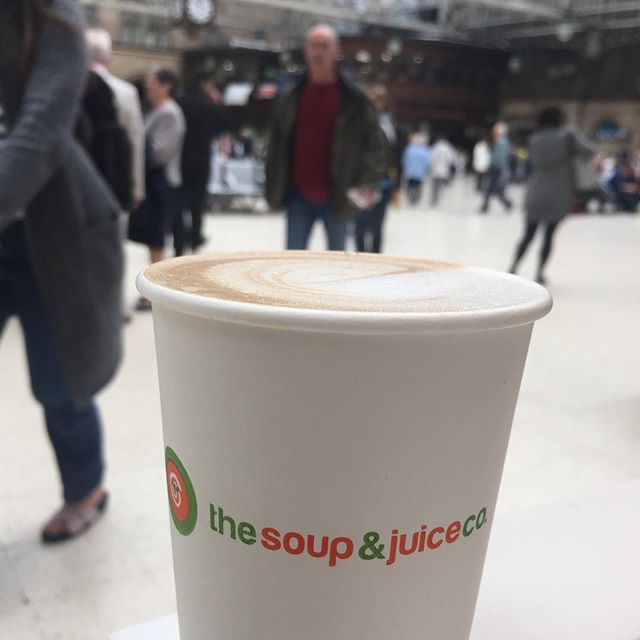It's feeling fresh this morning. And by fresh we mean really pretty cold. Luckily, we've got a cup of the hot stuff to keep us toasty! Swing by and reheat ❄️ #soupandjuice #soupandjuiceco #localbusiness #coffee #morningcoffee #glasgow #glasgowlife #glasgowcity #glasgowcentral