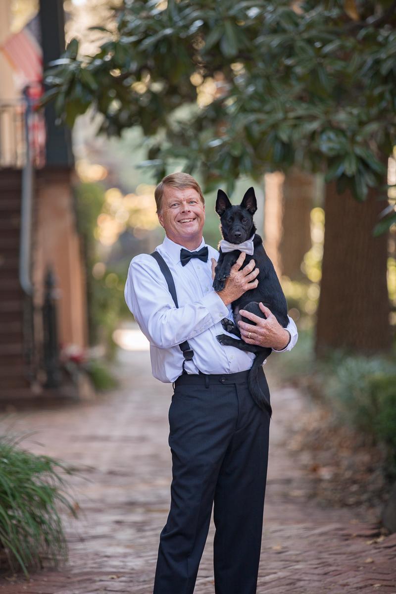 a man and his dog / family / savannah ga