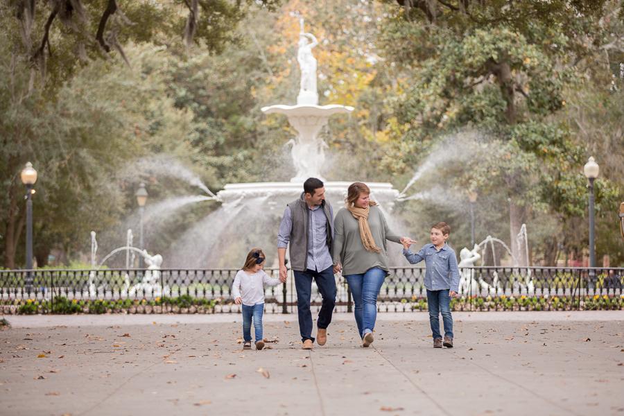 forsyth park / family / savannah ga