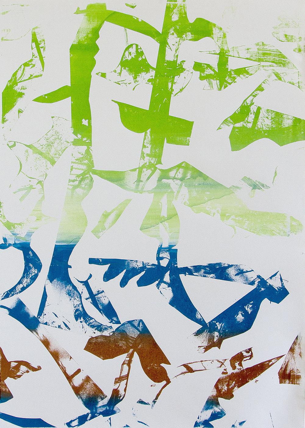 Screenprinted acrylic on paper/138x102cm 2017