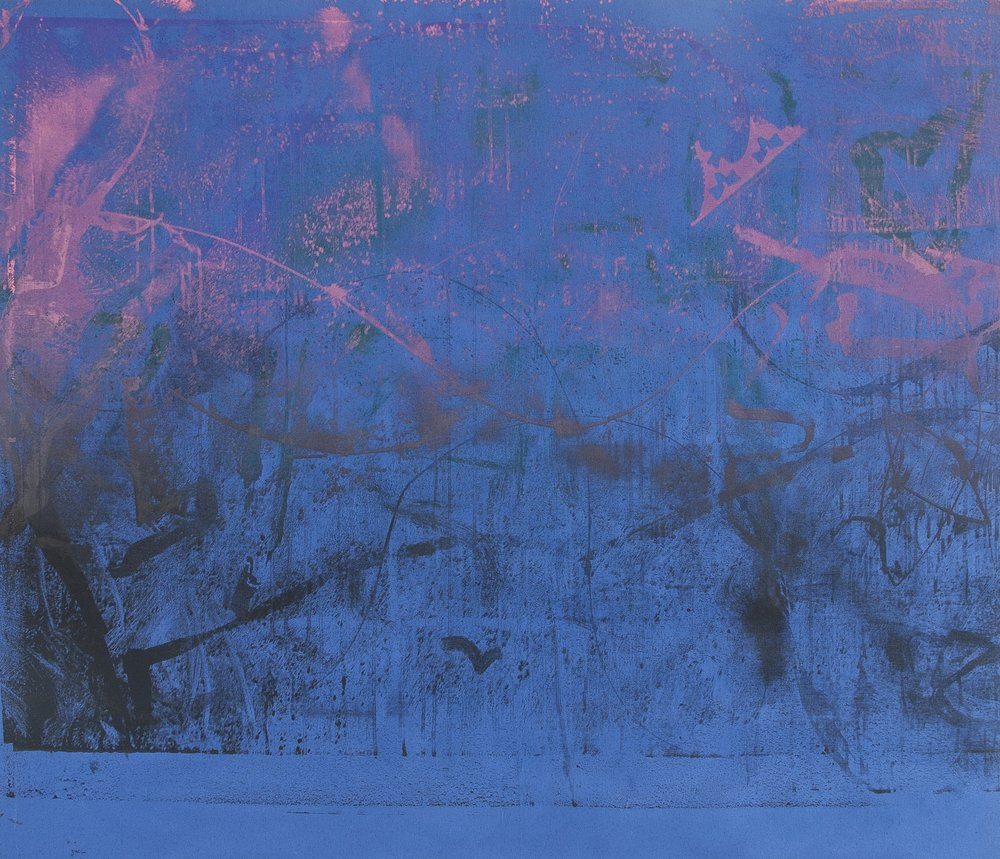 Screenprinted acrylic on canvas/80x100cm/2017