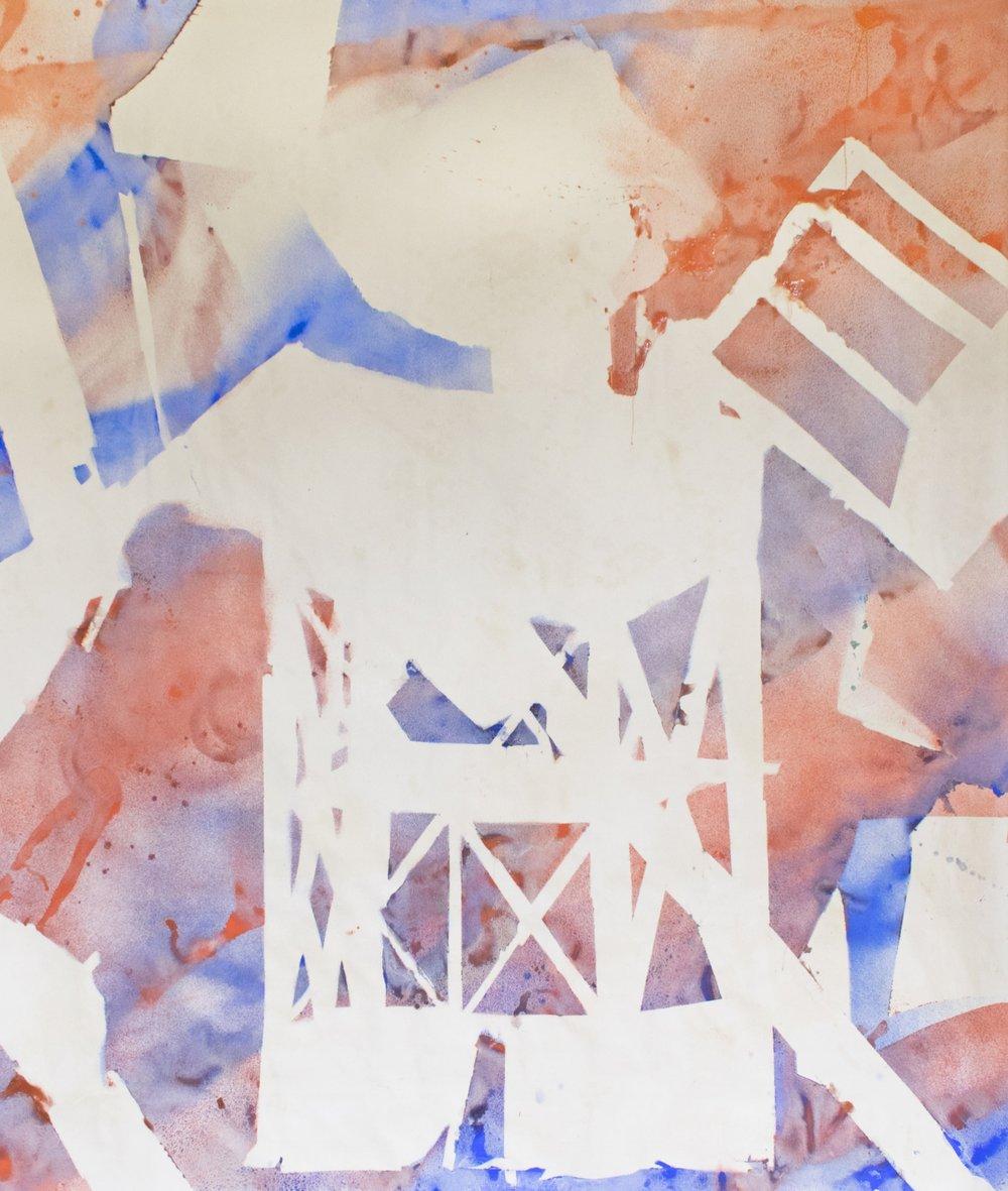 Pigments, rabbit skin glue on canvas/270x250cm 2017