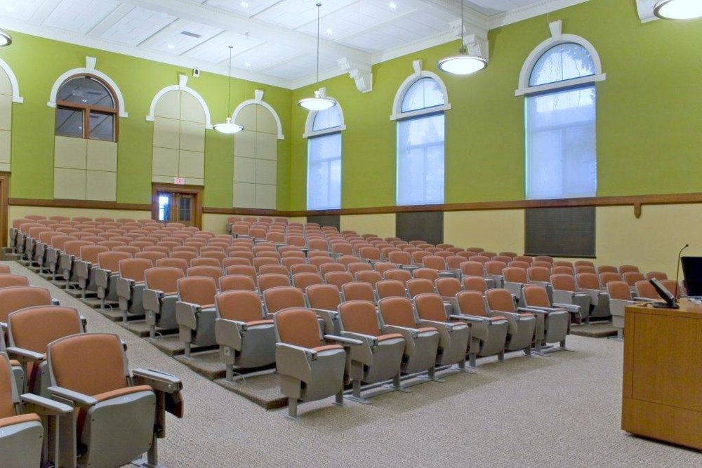 Lancaster Auditorium Seating (named After The Lancastrian System Of  Classroom Design) Increases Learning And Retention By Providing Comfortable  Seating For ...