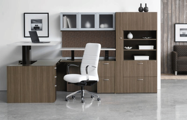 Indiana Furniture's two most popular casegoods collections, Canvas and Gesso, offer the health conscience Sit to Stand solution for your work environment.