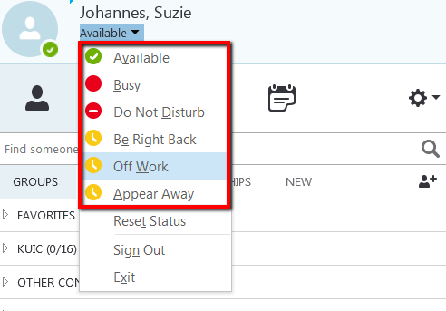 When you manually override the default, your status will remain what you've manually set until you either change it to another status or return to the default settings.