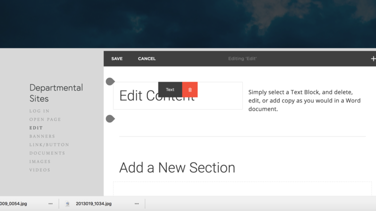 Learn how to edit content on your website. -