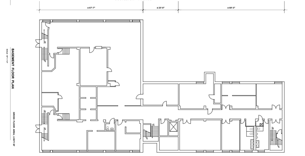 (6600-6622 Bustleton Ave Basement Floor Plan)