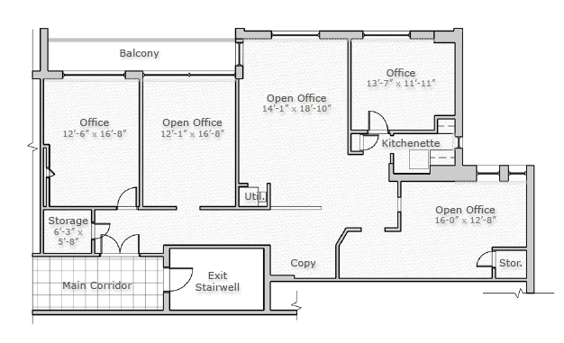 Sample Layout - Suite 308