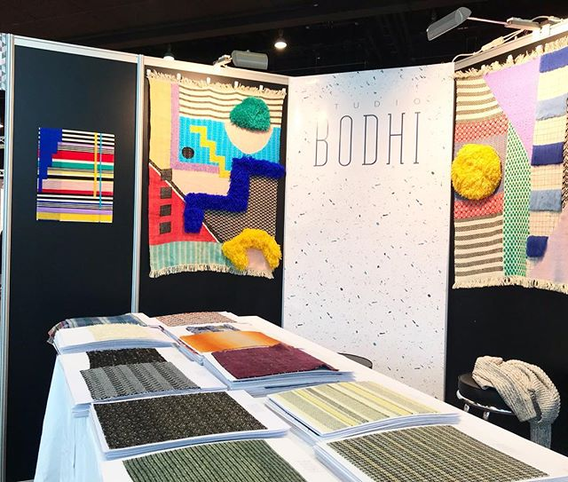 We are all set up at our first exhibition @heimtextil come see us at stand A43 hall 3.0 🎉  @textiles.ukft @franklintill  #textiles #tradeshow #weaversofinstagram #design #wovenwallhanging #wovendesign #trend #colour #sustainable