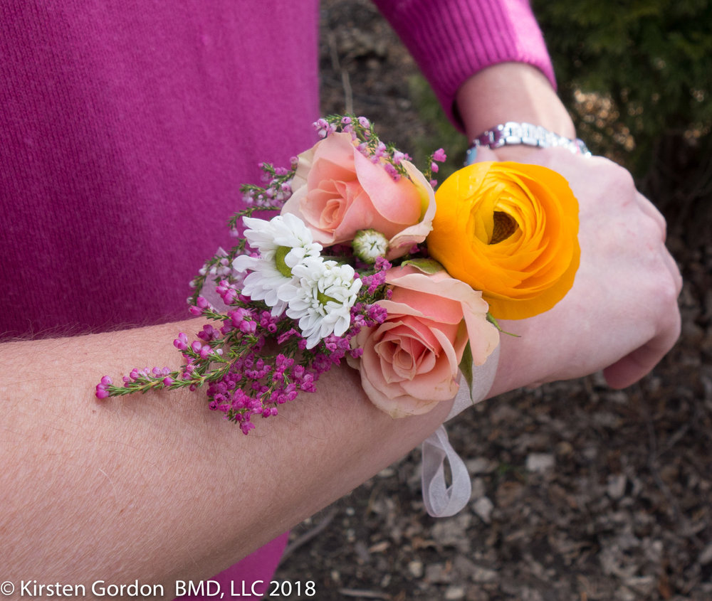 Rustic wedding corsage