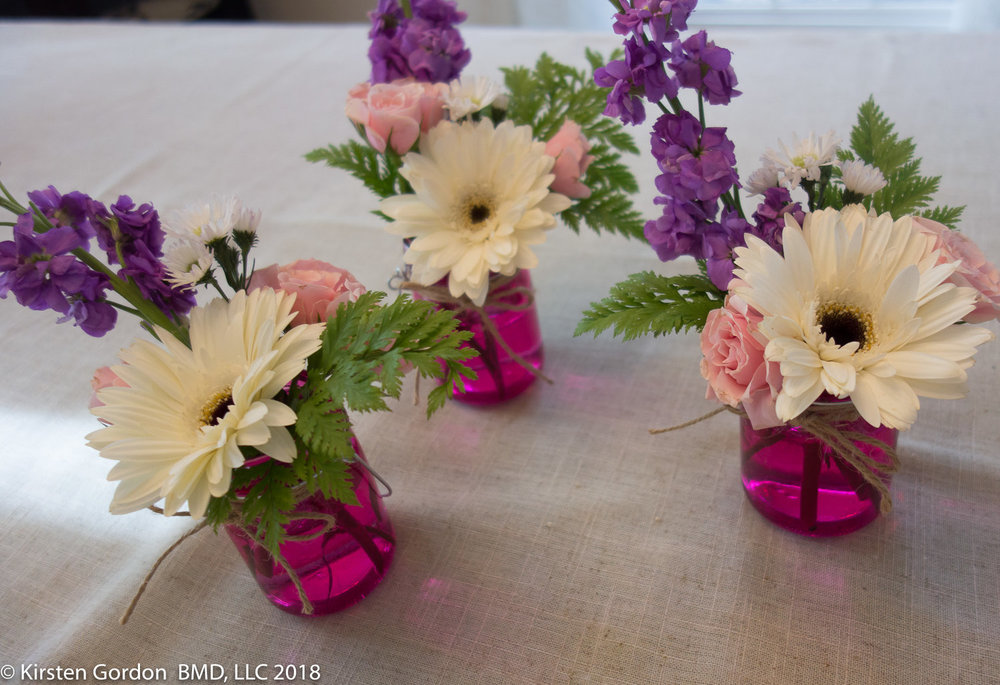Petite Mason Jars - pops of color work best 3 or more