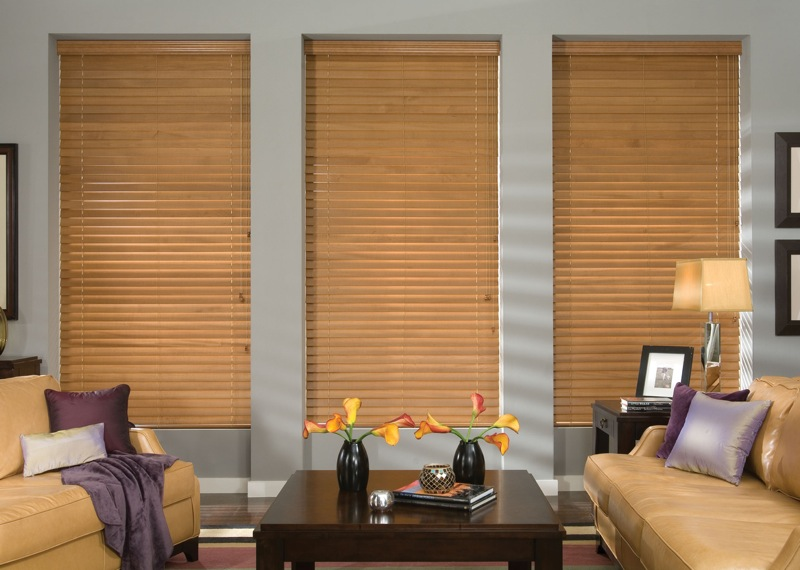 Two Inch Wood Blinds, Natural