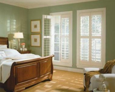 Plantation Shutters with Three Inch Louvre and T Post