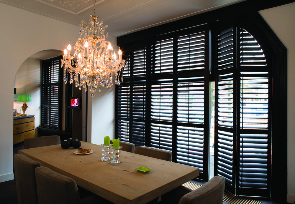 "Plantation Shutters with 1"" Louvers"