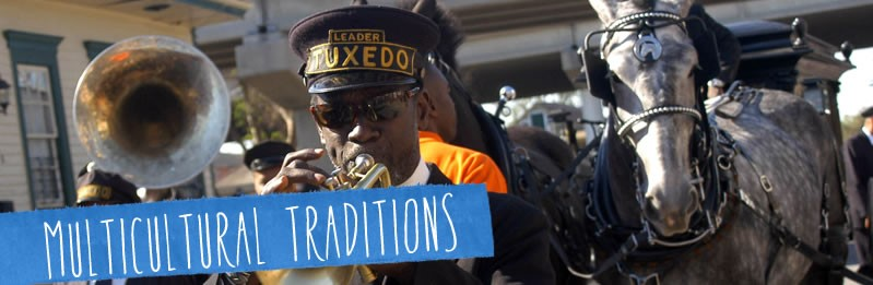The jazz funeral celebrates life at the moment of death