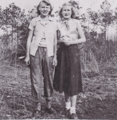 Rick Bragg's mother, Margaret (right) as a young girl, with her sister, Juanita – photo courtesy of  Southern Living,  May 2018