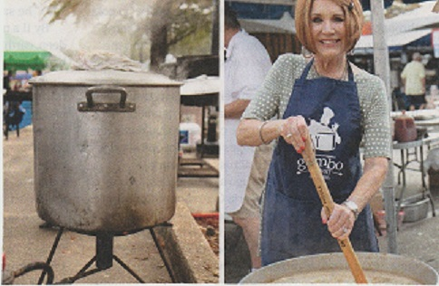 """Huge pots are used for the cook-off and """"Yes"""" ladies enter this competition – photo courtesy of  Southern Living"""