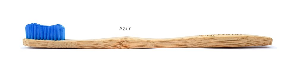 Australia environmentally friendly and biodegradable adult size bamboo toothbrush Azur.