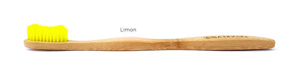 Copy of Australia environmentally friendly and biodegradable adult size bamboo toothbrush Limon.