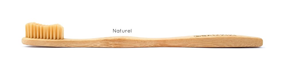 Australia environmentally friendly and biodegradable adult size bamboo toothbrush Naturel.